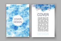 Schablonenbroschüre paginiert Verzierungsvektorillustration traditionelles islamisches, arabisch, indisch, Abdeckungselemente dek lizenzfreie abbildung