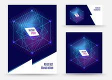 Schablonenbroschüren-Design geometrische spapes stock abbildung