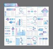 Schablonenbroschüren-Design gesetzte Darstellung von infographic Lizenzfreie Stockfotos