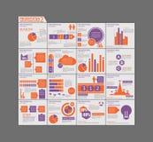 Schablonenbroschüren-Design gesetzte Darstellung von infographic Lizenzfreie Stockbilder