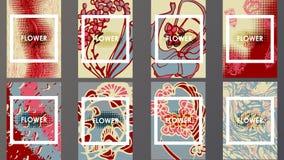 Schablonenbroschüren geometrisches Übergangs-Design Stockbild