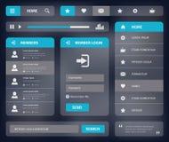 Schablonendesign des Netzes UI des Vektors bewegliches Lizenzfreie Stockfotos