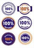 Schablonendesign-Fahnengarantie hundert Prozent Lizenzfreie Stockbilder