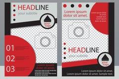 Schablonendesign von Broschüren mit Platz für Ihr Foto Eine Probe Lizenzfreie Stockbilder