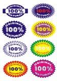 Schablonendesignfahne die ursprünglichen hundert Prozent Lizenzfreie Stockfotos