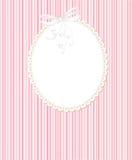 Schablonenfeldauslegung für Grußkarte Lizenzfreie Stockbilder