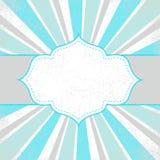 Schablonenfeldauslegung für Grußkarte Lizenzfreies Stockbild