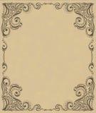 Schablonenfeldauslegung für Karte Stockfotografie