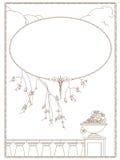 Schablonenflieger Eleganter Hintergrund mit dünnen Linien mit Platz für Glückwünsche nave stock abbildung