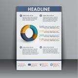 Schablonenflieger mit Informationen für die Werbung Stockfotos