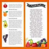 Schablonenflieger oder -broschüre mit dekorativem Lizenzfreie Stockfotos