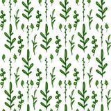 Schablonengrußkarte mit einem Rahmen der grünen Eiche Stockbild