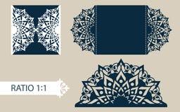 Schablonengrußkarte mit openwork Muster Stockbild
