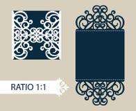 Schablonengrußkarte mit openwork Muster Stockbilder