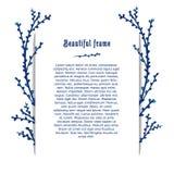 Schablonengrußkarte mit Platz für Ihren Text Lizenzfreie Stockbilder