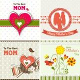 Schablonengrußkarte, Muttertag, Vektor Lizenzfreie Stockfotos