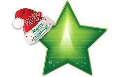 Schablonenkarte des glücklichen neuen Jahres der frohen Weihnachten Stockbild