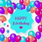 Schablonenkarte für Einladungen, Geburtstag, für Design, Anzeige, Farbe, bunt, Feiertag, Gruß, Bucheinband, Elemente für Winkel d Lizenzfreies Stockbild