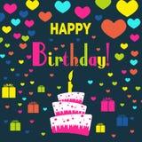Schablonenkarte für Einladungen, Geburtstag, für Design, Anzeige, Farbe, bunt, Feiertag, Gruß, Bucheinband, Elemente für Winkel d Stockbilder