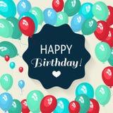 Schablonenkarte für Einladungen, Geburtstag, für Design, Anzeige, Farbe, bunt, Feiertag, Gruß, Bucheinband, Elemente für Winkel d Stockfotos