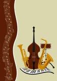 Schablonenmusikposter Stockbilder