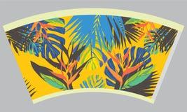 Schablonenpapierschale für heißes Getränk stockbilder
