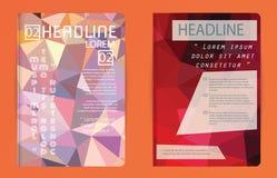 Schablonenpolygonzusammenfassungsdesignzeitschriftbroschürenfliegerbroschüre Stockfotografie