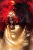Schablonenportraitkarneval von Venedig Italien Stockbild