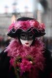 Schablonenportraitkarneval von Venedig Italien stockfotografie