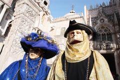 Schablonenportraitkarneval von Venedig Italien Stockbilder
