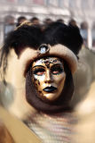 Schablonenportraitkarneval von Venedig Italien Lizenzfreie Stockbilder