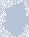 Schablonenrahmendesign für Karte. Lizenzfreies Stockfoto