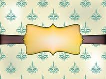 Schablonenrahmendesign für Grußkarte. Hintergrund - nahtloses Muster Lizenzfreie Stockfotografie