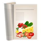 Schablonenseiten eines Kochbuches Lizenzfreie Stockfotografie
