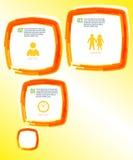 SchablonenSeitenaufstellungs-Broschüreneffektpinsel Stockbild