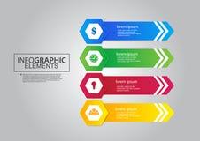 Schablonenvektor-Farbdesign des Wirtschaftskreises infographic Stockbilder