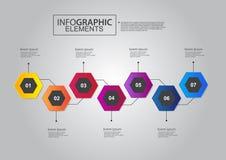 Schablonenvektor-Farbdesign des Wirtschaftskreises infographic Lizenzfreies Stockfoto
