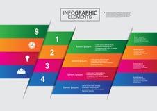 Schablonenvektor-Farbdesign des Wirtschaftskreises infographic Lizenzfreies Stockbild