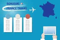 Schablonenvektor Reise nach Frankreich vektor abbildung