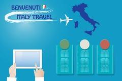 Schablonenvektor Reise nach Italien lizenzfreie abbildung