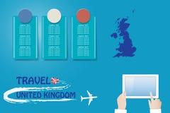 Schablonenvektor Reise nach Vereinigtes Königreich lizenzfreie abbildung