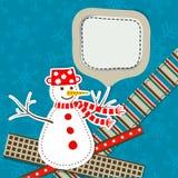Schablonenweihnachtsgrußkarte, Vektor Lizenzfreies Stockbild