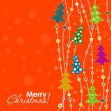 Schablonenweihnachtsgrußkarte, Vektor Lizenzfreie Stockfotografie