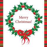 Schablonenweihnachtsgrußkarte, Vektor Stockfoto