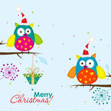 Schablonenweihnachtsgrußkarte, Vektor Stockbilder
