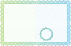 Schablonenzertifikat, -währung und -diplome. Lizenzfreies Stockfoto