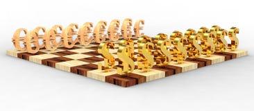Schach 3D Lizenzfreie Stockfotos
