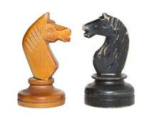 Schach adelt Isolator Stockfotos