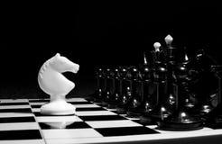 Schach adelt Kopf-an-Kopf- Lizenzfreies Stockbild