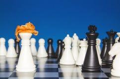 Schach als Politik 15 stockfotografie